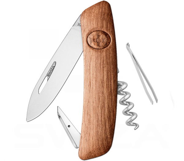 D01 Wood Walnuss Schweizer Messer