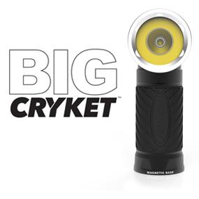 Cryket Taschenlampe mit beweglichen Kopf