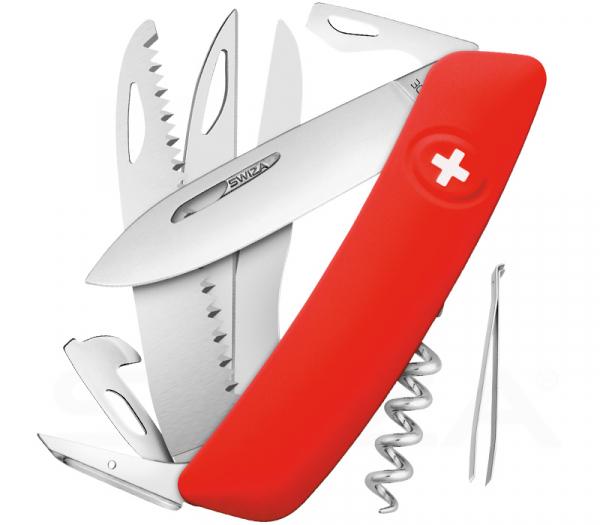 SWIZA D09 Taschenmesser mit Roter Griffschale