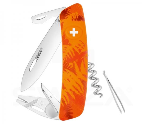 SWIZA TT03 Tick Tool Camo Farn Orange