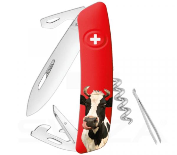 Bei diesem Swiza Messer ist Margrit ist auf der Griffschale verewigt