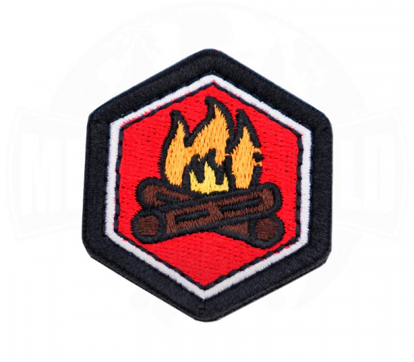 Patch Lagerfeuer Hexagon